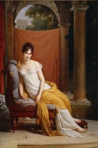 une élégante à l'antique du début 19è