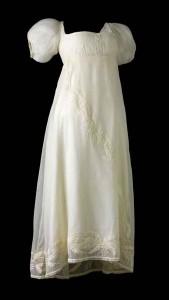 robe d'époque empire en voile de coton