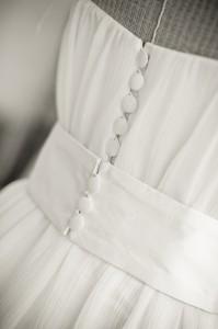 boutons dos robe de mariée