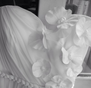 bustier avec fleurs robe de mariée