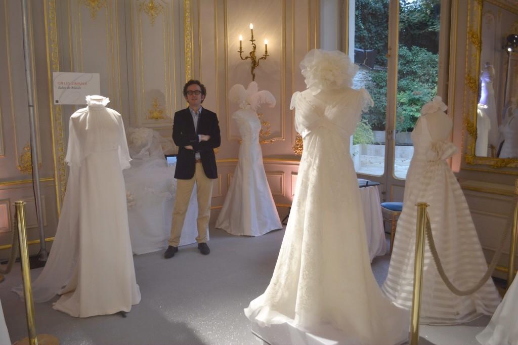 Les Coulisses du Mariage, Stand Gilles Zimmer, robes de mariée sur mesure